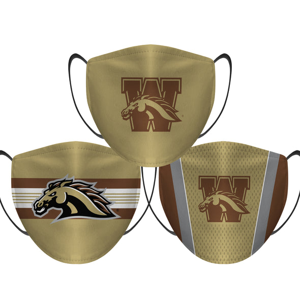 Western Michigan Broncos - Face Mask - 3 Pack