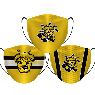 Wichita State Shockers - Face Mask - 3 Pack