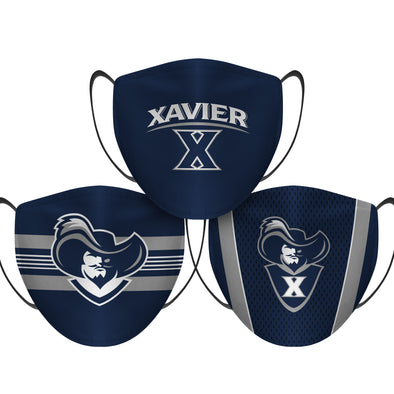 Xavier Musketeers - Face Mask - 3 Pack