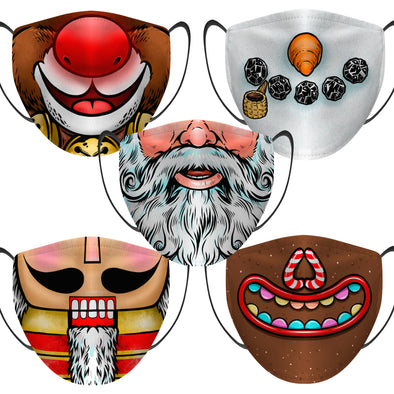 Christmas - Face Mask - 5 Pack