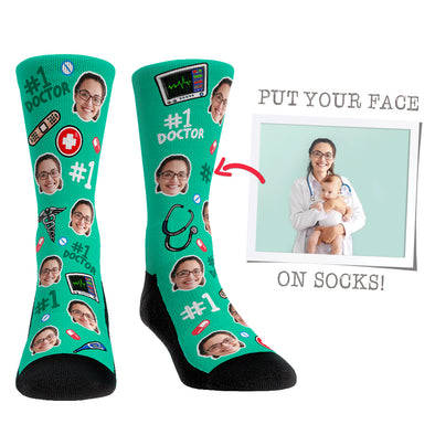 Custom Face Socks - #1 Doctor