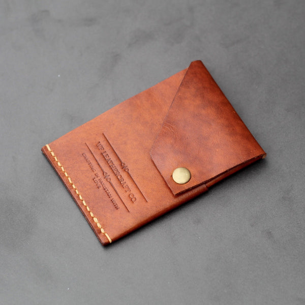 vegtan leather cardholder