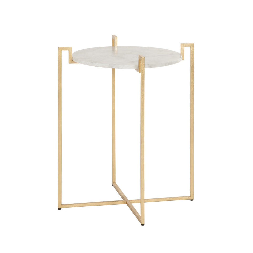 Abel Gold Side Table  sc 1 st  Elements & Abel Gold Side Table by Worlds Away u2013 Elements
