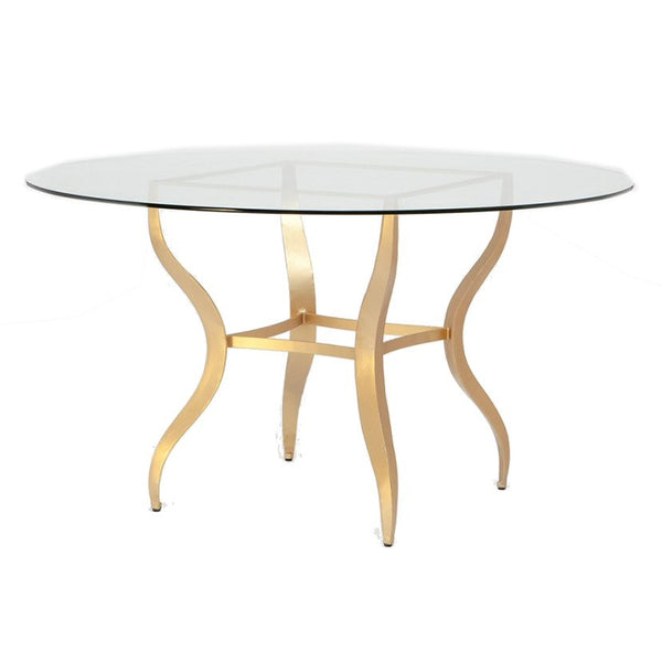 Lawrence Glass and Gold Table
