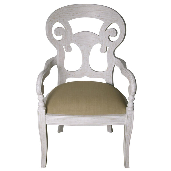 White Saragossa Arm Chair