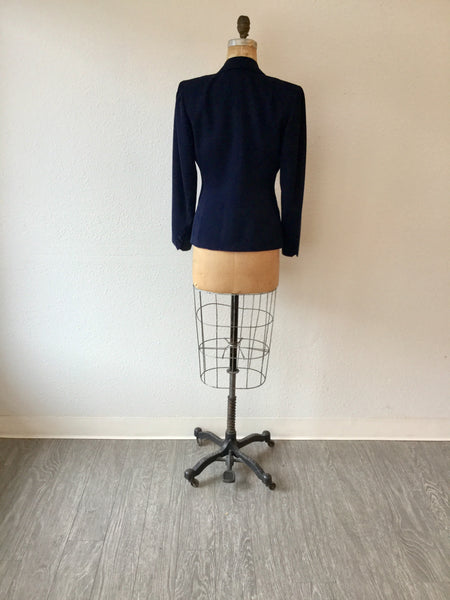 Bond 1940s Navy Jacket | Medium