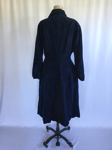 Wanamaker 1950s  Navy Coat | Medium