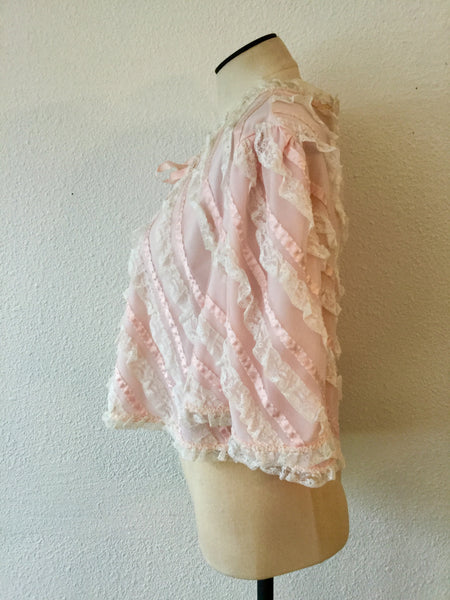 Chevette 1950s Bed Jacket | Medium/Large