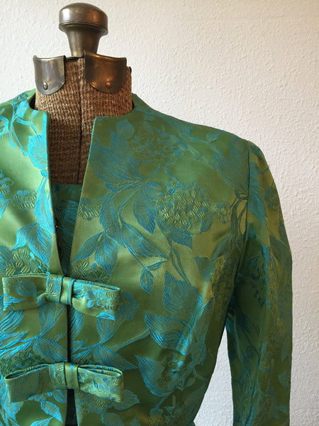 Aegian 1950s Floral Dress and Jacket | Small