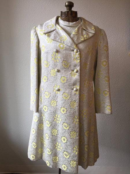 Dorothy Lee 1960s Floral Brocade Coat | Large