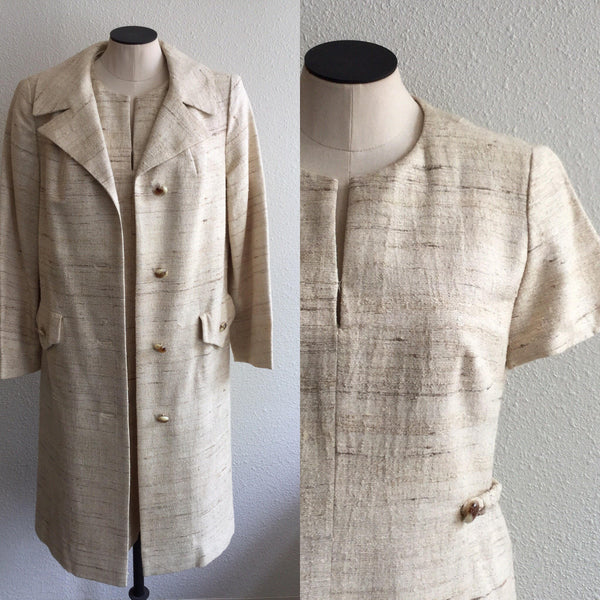 Bullock's 1960s Dress and Coat | Small