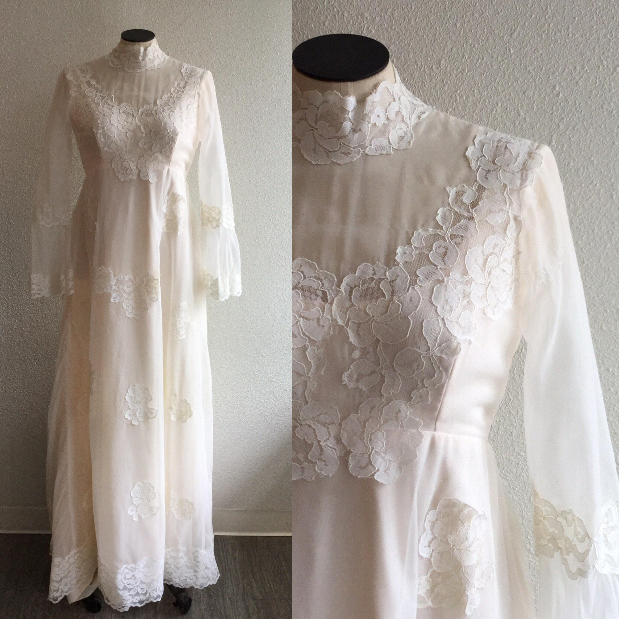 Shannon 1970s Wedding Gown | Small