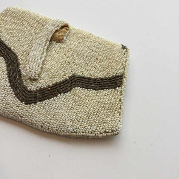 Waves 1920s Beaded Purse