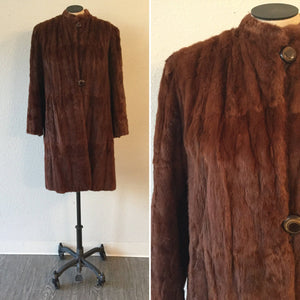 Rachelle 1940s Mink Coat | Small/Medium