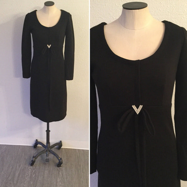 Leslie Fay 1960s Jersey Dress | Small