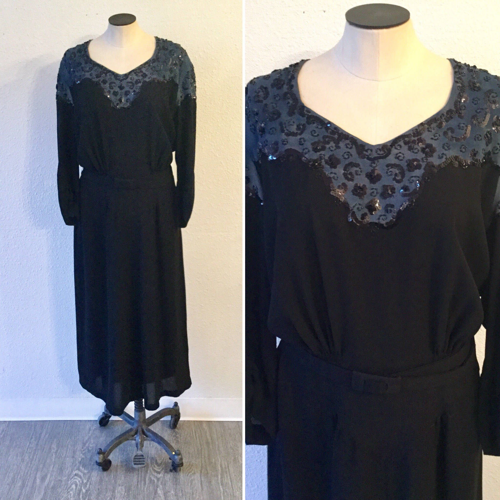 Crystal 1930s Rayon Dress | XLarge