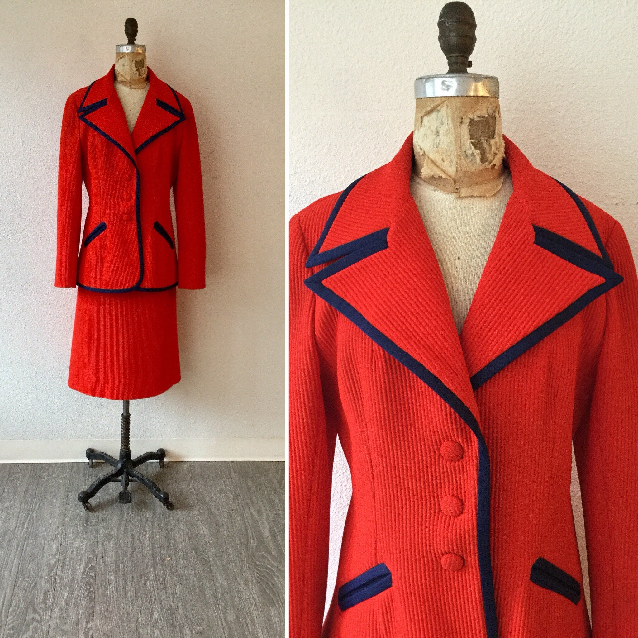 Lilli Ann 1970s Knit Suit | Large