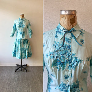 Tiffany 1950s Chintz Dress Set | XSmall