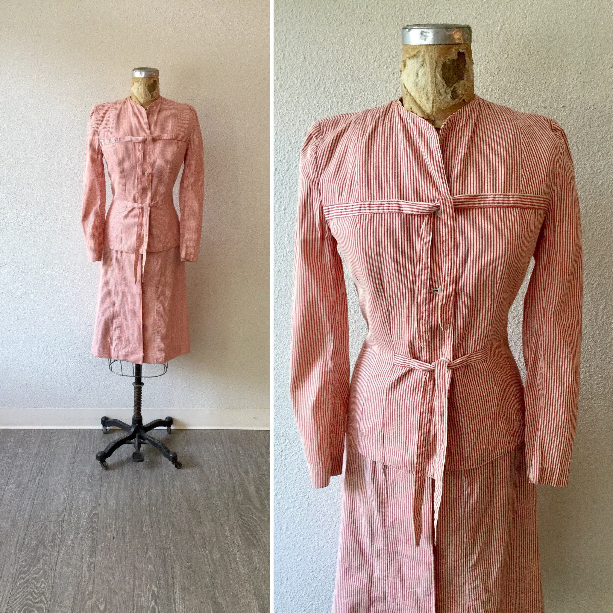 Cecile 1940s Seersucker Suit | Small