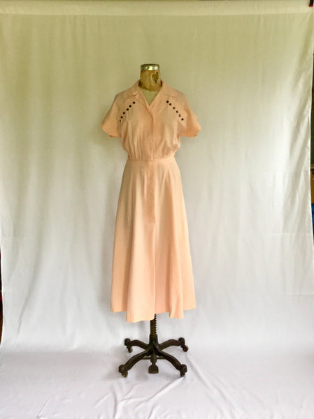 Sandra 1940s Shirtwaist Dress | Small