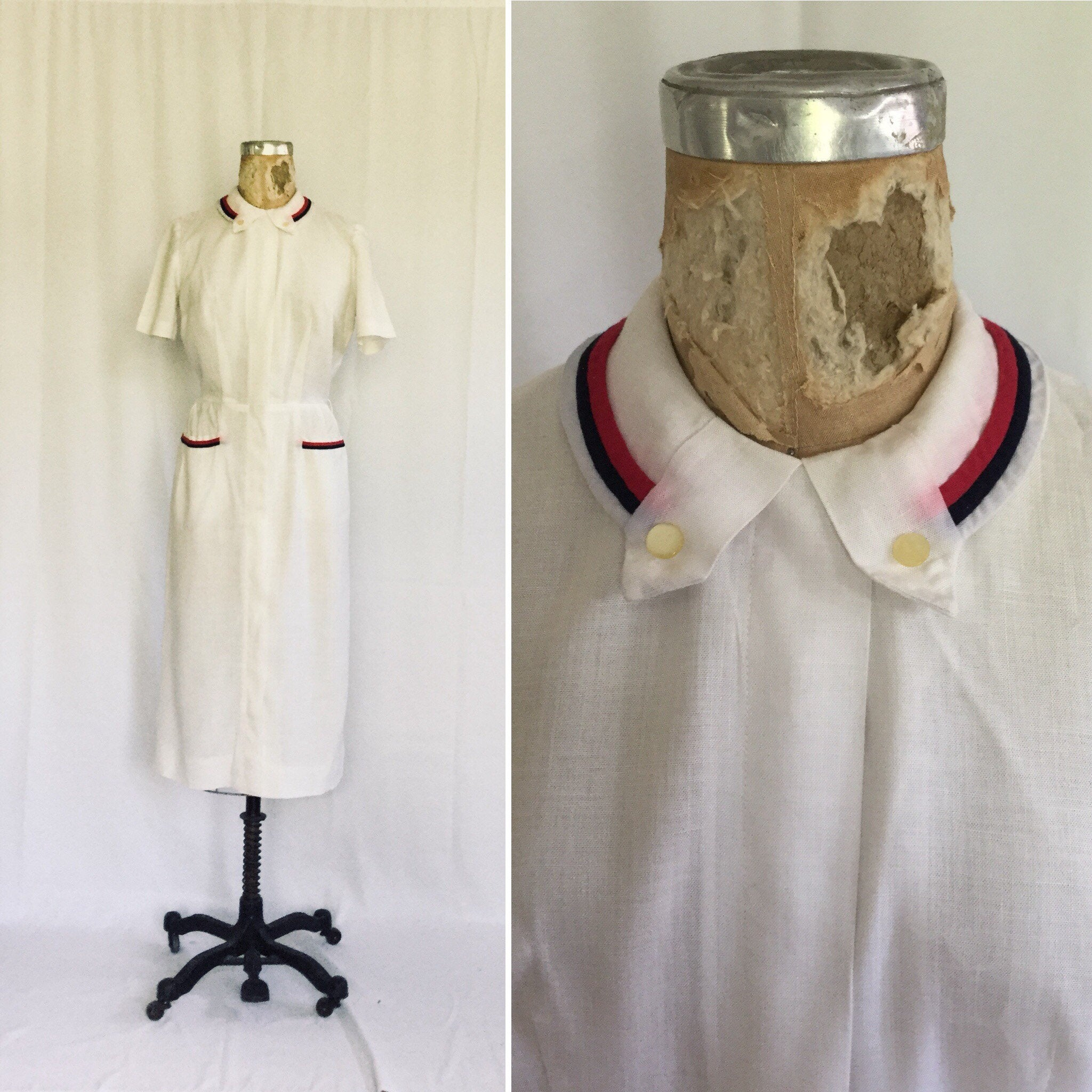 Vive La France 1950s Shift Dress | Small