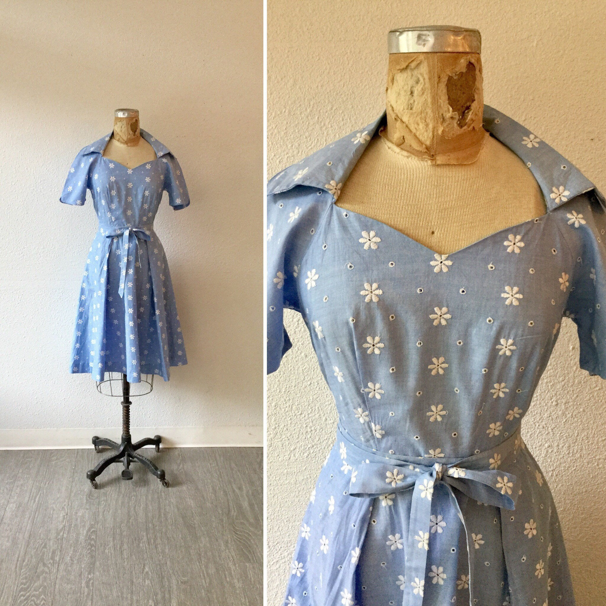 Daisy 1950s Eyelet Dress | Small