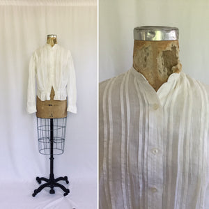 Darcy Antique Early 1900s Blouse | Medium