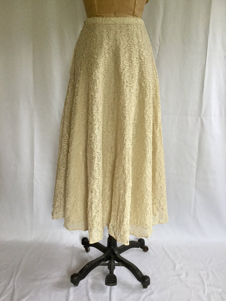 Harriette 1940s Full Lace Skirt | Small