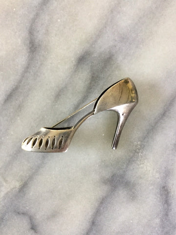 Night Out 1980s Shoe Brooch