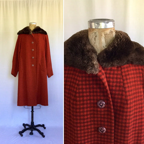 Peregrine 1950s Check Coat | Large/XLarge