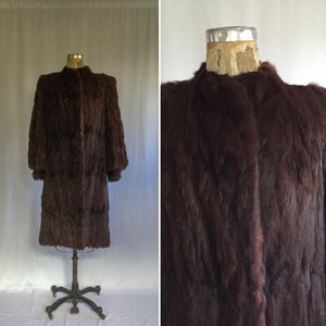 Lachelles 1940s Fur Coat | Medium/Large