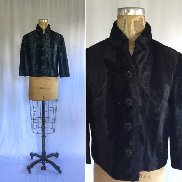 Alexis 1950s Mohair Jacket | Medium