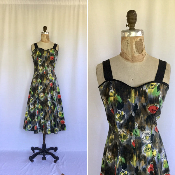 Claudette 1950s Cotton Dress | Medium