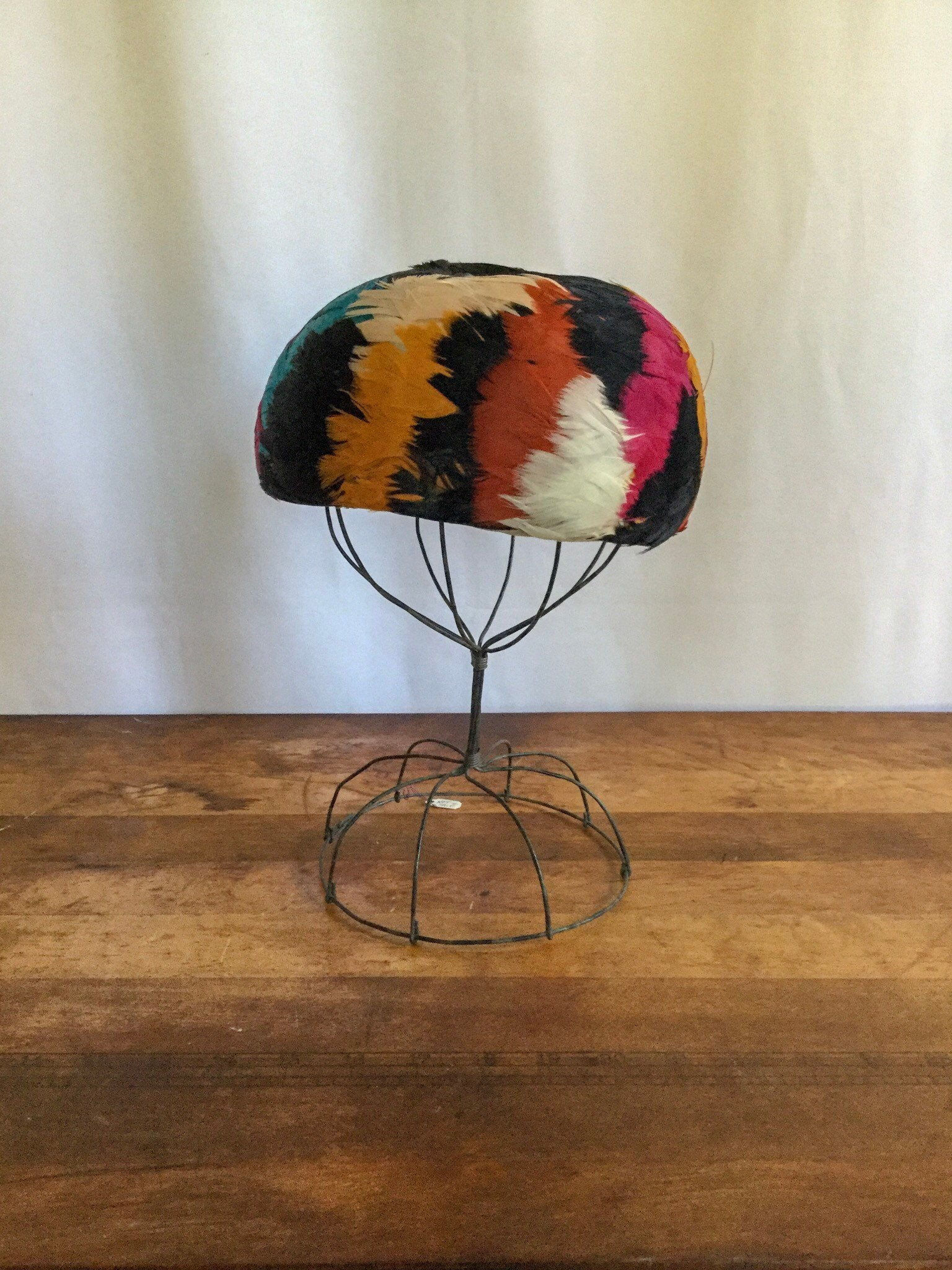 Berttie  1950s Feather Hat