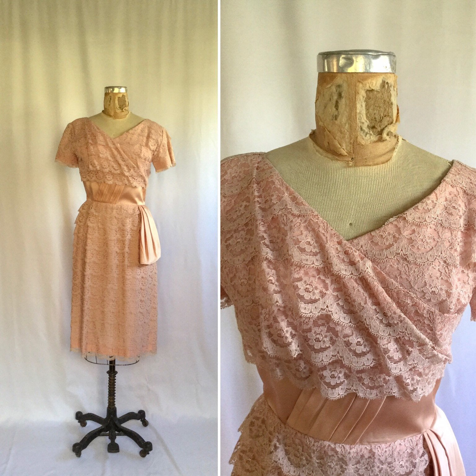 Katriane 1950s Lace Dress | Small/Medium