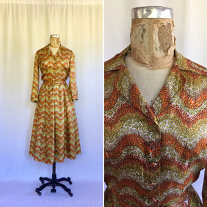 Pauline Lake 1950s Shirtwaist Dress | Small