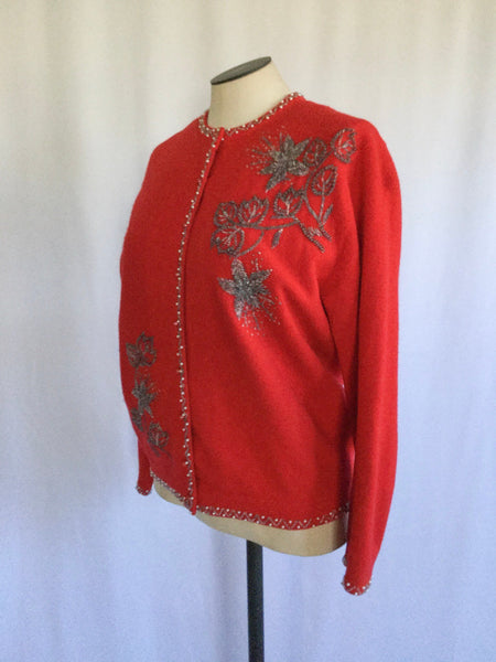 Blanchet 1950s Beaded Cardigan | Medium