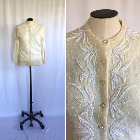 Aspen 1950s Beaded Cardigan | Small