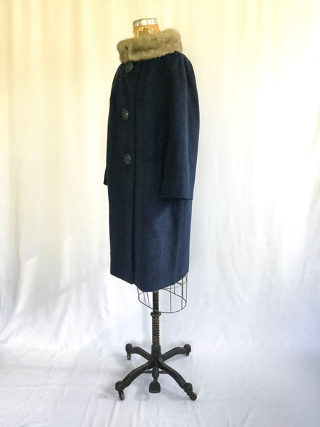 Viola 1950s Wool Coat | Medium/Large