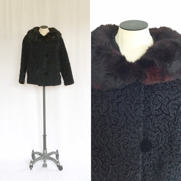 Adelaide 1950s Fur Jacket | Medium