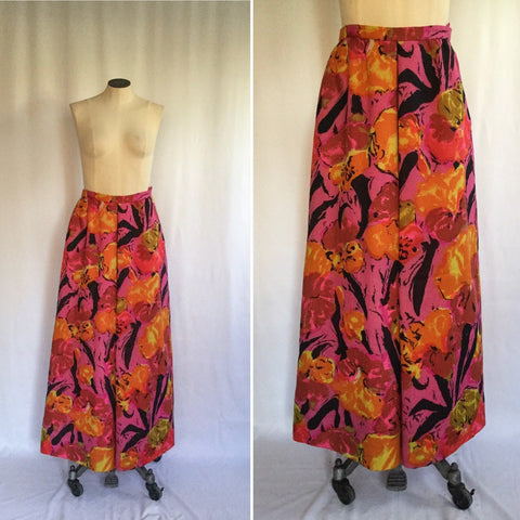 Nelly de Grab 1960s Floral Skirt | Small