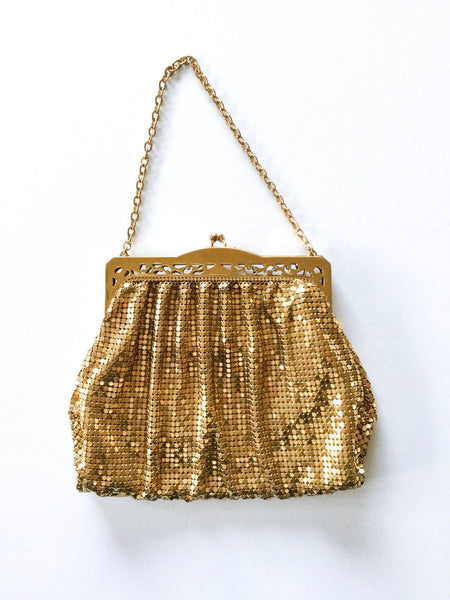 Isabella 1930s  Gold Mesh Purse