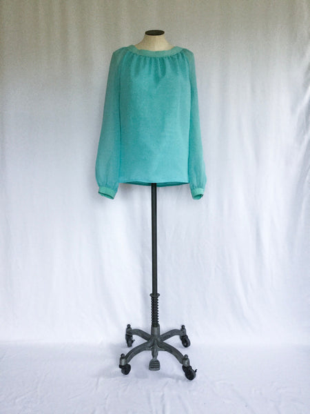 Carolyn 1960s Chiffon Blouse | Small/Medium