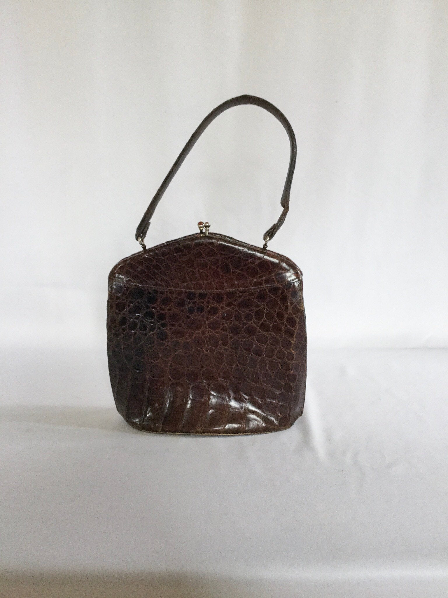 Nancy 1940s Alligator Purse