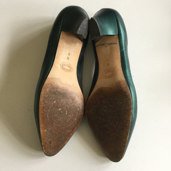 Rosanna 1980s Green Shoes | US 9