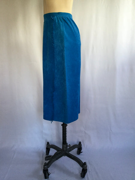 Oakley 1980s Suede  Skirt | Medium