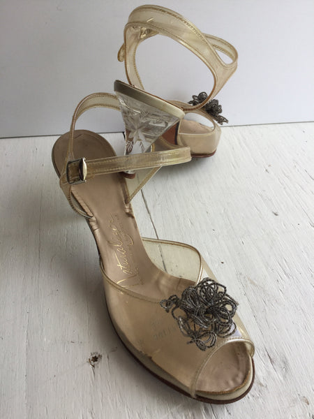 Glass Slipper 1950s Sandal | US 7.5
