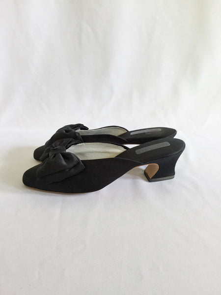 Hanro 1980s Boudoir Slippers | US 6