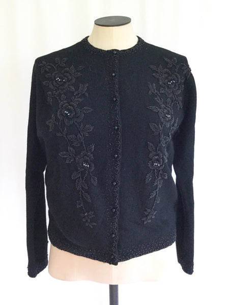 Eve 1950s Beaded Cardigan | Small