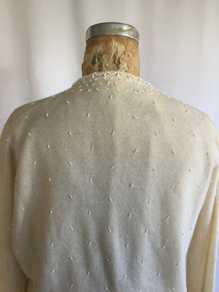 Vicky 1950s Beaded Cardigan | Medium/Large